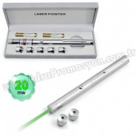 Promosyon 20 Mw Yeşil Lazer Pointer 5 Başlıklı GLP7513-25