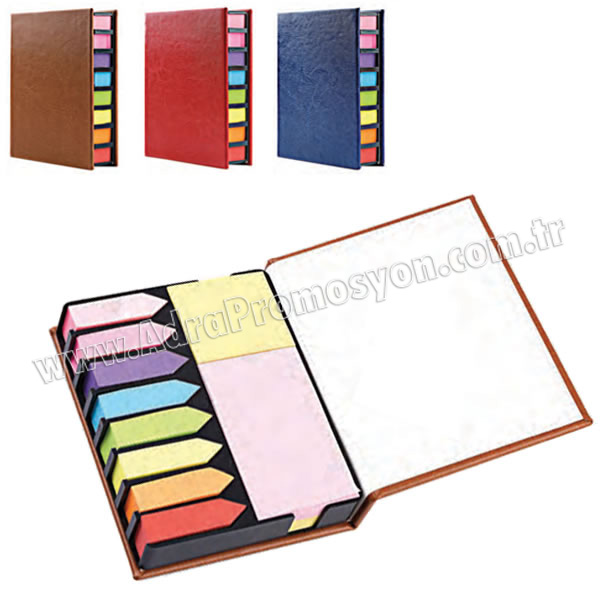 Promosyon 8 Renkli Yapışkan Notluk Seti Notluklar AMG13001