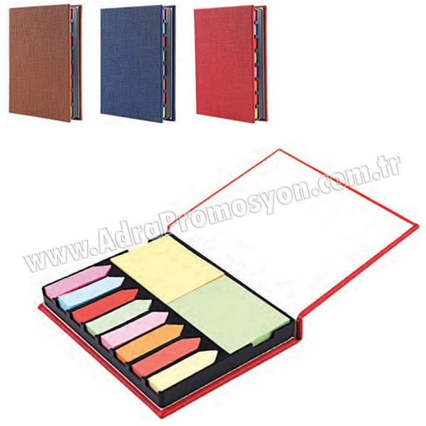 Promosyon 8 Renkli Yapışkan Notluk Seti Notluklar AMG13002