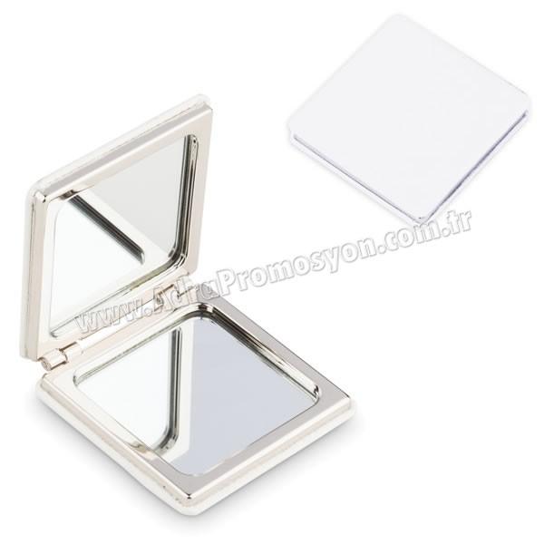 Promosyon Deri Metal Makyaj Aynası Büyüteçli AAM10128