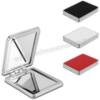 Promosyon Deri Metal Makyaj Aynası Büyüteçli AAM10144