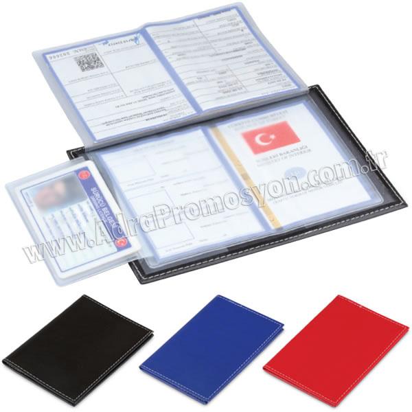 Promosyon Ruhsat Kabı - Deri - 2 Parça GEC8250-A