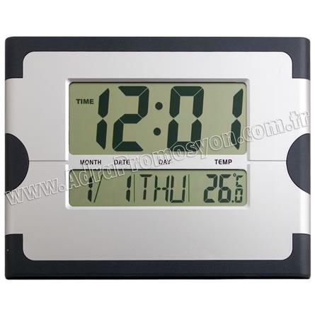 Promosyon Dijital Duvar Saati Takvim ve Termometreli GDS793