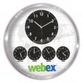Metal Dünya Saatleri Beşli Duvar Saati 60 Cm Alüminyum AS20571