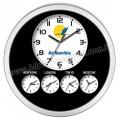 AS20112-5 Promosyon Dünya Saatleri Beşli Duvar Saati 48,5 Cm