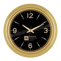 Promosyon Duvar Saati Altın 37 Cm Özel Kadran AS20115-AG