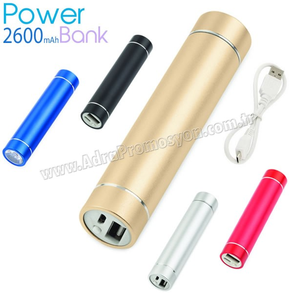 Promosyon PowerBank 2600 mAh - Metal - Fenerli APB3753