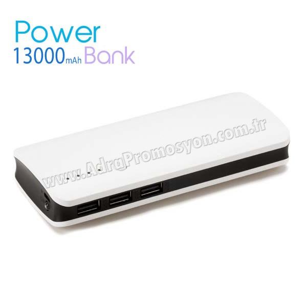 Promosyon PowerBank 13000 mAh - 3 Çıkışlı - Fenerli APB3769