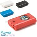 APB3768 Promosyon PowerBank 4400 mAh - 2 Çıkışlı - Fenerli