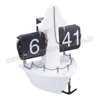 Promosyon Dekoratif Gemi Saat Yaprak Mekanizmalı AS20524