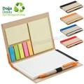 AGD24147 Promosyon Geri Dönüşümlü Bloknot - Kalemli ve Renkli Yapışkan Notluklu