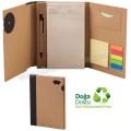 AGD24163 Promosyon Geri Dönüşümlü Bloknot - Kalemli ve Renkli Yapışkan Notluklu