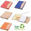 AGD24164 Promosyon Geri Dönüşümlü Bloknot - Kalemli ve Renkli Yapışkan Notluklu