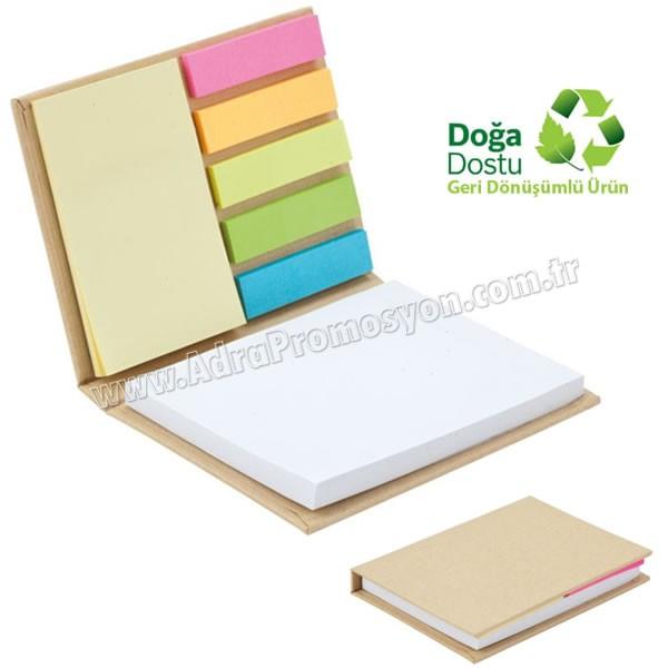 Promosyon Geri Dönüşümlü Bloknot - Renkli Yapışkan Notluklu AGD24150