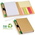 AGD24128 Promosyon Geri Dönüşümlü Bloknot - Kalemli ve Renkli Yapışkan Notluklu