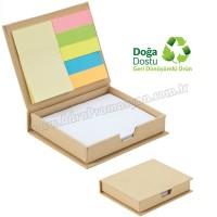 Promosyon Geri Dönüşümlü Notluk - Renkli Yapışkan Notluklu AGD24152