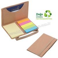 Promosyon Geri Dönüşümlü Notluk - Renkli Yapışkan Notluklu AGD8319