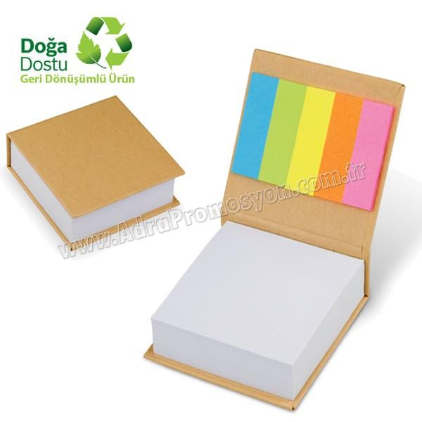 Promosyon Geri Dönüşümlü Küp Notluk ve Renkli Yapışkan Notluklar AGD24131