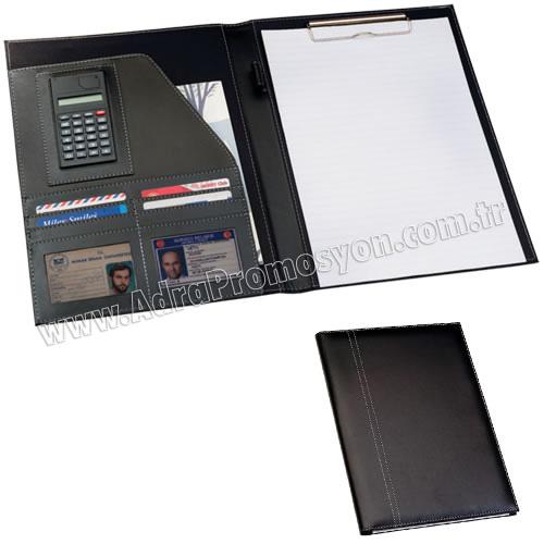 Promosyon Sekreter Bloknot A4 - Hesap Makineli Toplantı Bloknotu ACB8237-A4