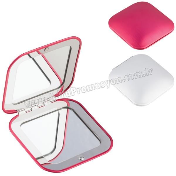 Promosyon Metal Makyaj Aynası Büyüteçli AAM10126