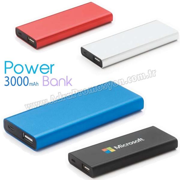 Promosyon PowerBank 3000 mAh - Metal APB3755