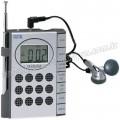 GRD158 Promosyon Mini Radyo Dijital Saatli ve Kulaklıklı