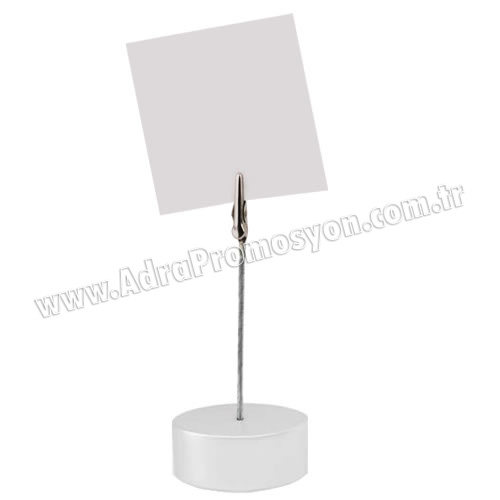 Promosyon Not Tutucu Akrilik Gümüş Renk AMG422