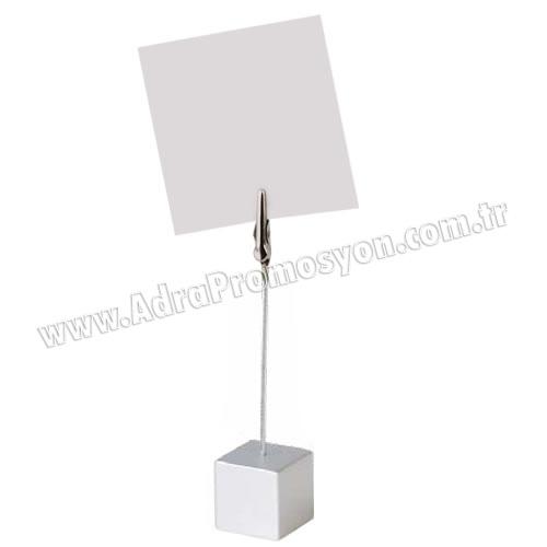 Promosyon Not Tutucu Akrilik Gümüş Renk GMG426-C