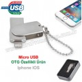 OTG Flash Bellek 16 GB - IOS Iphone OTG Özellikli - Metal AFB3253