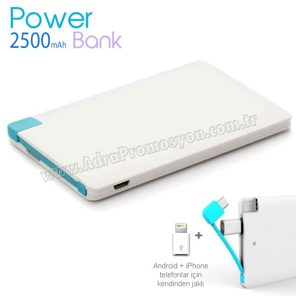 Promosyon PowerBank 2500 mAh + Android & iPhone APB3773