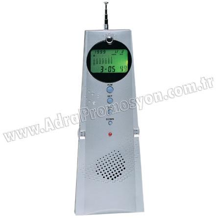 Promosyon Radyo Işıklı Ekranlı Termometreli ve Takvimli GRD150
