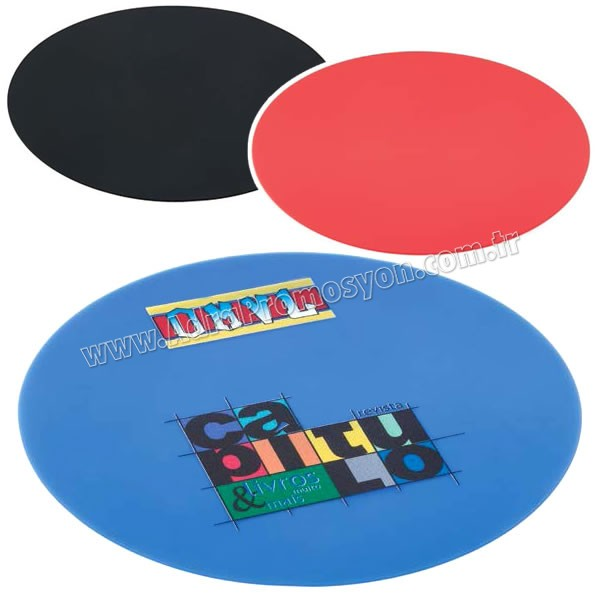 Promosyon Silikon Mouse Pad - Yuvarlak ABA4119