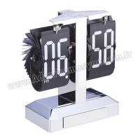 Promosyon Işıklı Metal Masa Saati Yaprak Mekanizmalı AS20528