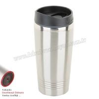 Promosyon Kulpsuz Devrilmez Termos Bardak - Kupa - Mug 475 mL - Metal ATM21090