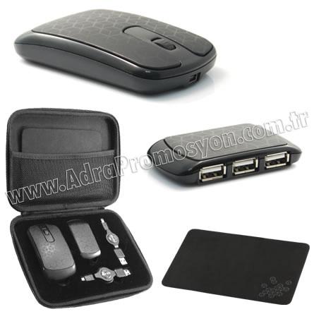 Promosyon Usb Çoğaltıcı Mouse Seti GBA3132