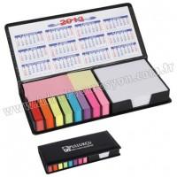 Promosyon Yapışkan Notluk Seti 10 Renk Takvimli ve Notluklu GMG4038